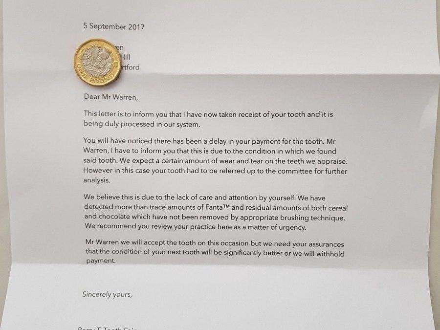 Carta del Ratoncito Perez a un niño